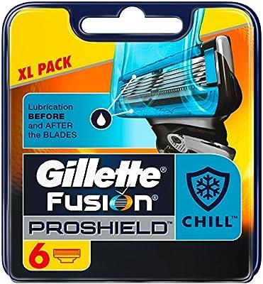 Gillette Fusion Proshield Flexball Chill Cuchillas de Afeitar para Hombre - 6 unidades: Amazon.es: Salud y cuidado personal