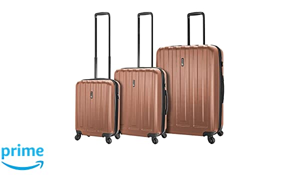 Amazon.com | Mia Toro Italy Illeso Hardside Spinner Luggage 3pc Set-Champagne | Luggage Sets