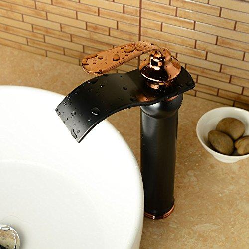 Alle Cengsui Kupfer antik Wasserhahn Glas Wasserfall kreative kontinentale Becken und kaltes Wasser Waschbecken Armatur Waschbecken Tabelle