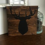 hunting trucks - 14x14 Wood Deer Sign, Boys Room Decor, Hunting Decor, Duck and Truck and Eight Point Bucks That's what Little Boys are Made of