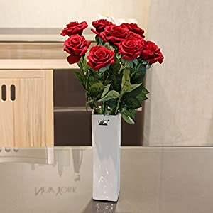 Emulation flower artificial flowers feel roses living room decorated dining table flower vase boutonniere romantic Valentine's day flower 44×13cm 77