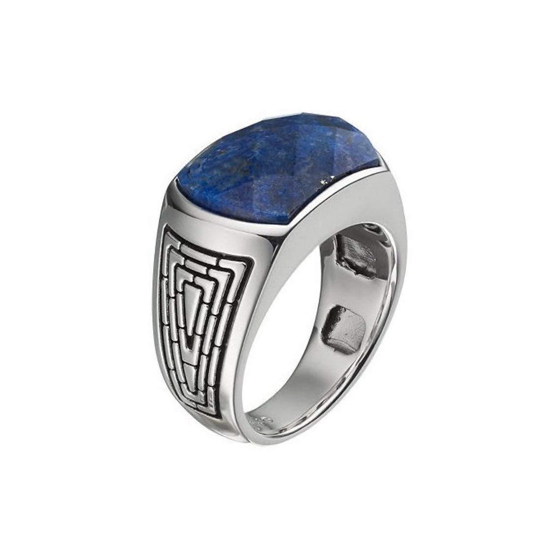 MENS LAPIS LAZULI Ring Men White Gold Ring Mens Pinky Ring 925 Sterling Silver Lapis Ring Mens Signet Ring Gift For Him Mens Ring