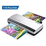 INTEY A4 Laminator, Thermal Laminator Machine with 2 Roller System Thermal Laminating and Cold Laminate for Quick Warm-up Speed Include 10 Laminating Sheets