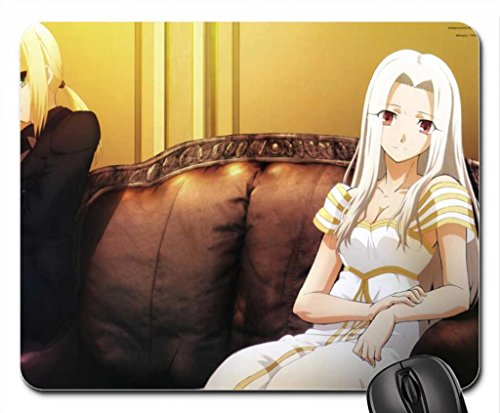 Fate Stay Night Mouse Pad, Mousepad (10.2 x 8.3 x 0.12 inches) (Anime With Blonde Hair And Blue Eyes)