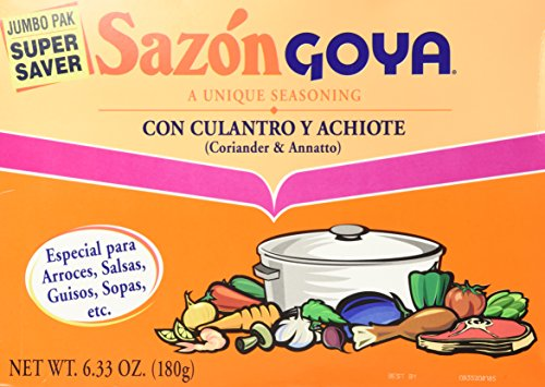 Price comparison product image Goya Sazon Jumbo Pack,  6.33-Ounce Packages (Pack of 3)
