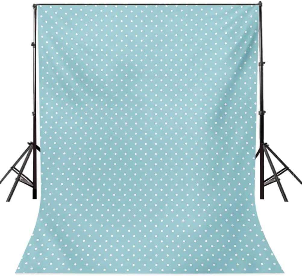 Pale Blue 10x15 FT Photo Backdrops,Classic Polka Dots Vintage Design Stylish Cottage Country Artwork Print Background for Photography Kids Adult Photo Booth Video Shoot Vinyl Studio Props