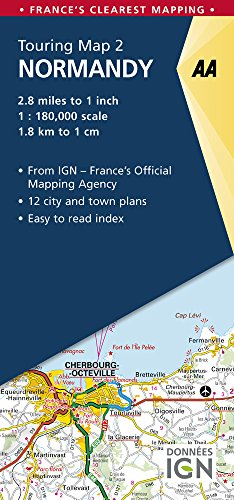 Normandy Touring Map (AA Road Map France) (Aa Road Map)