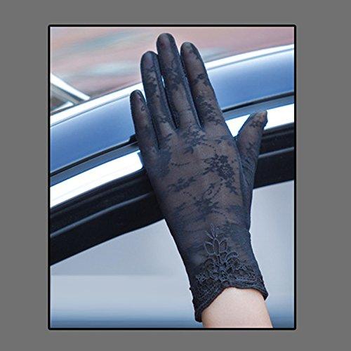 Coio 女性手袋 レディースUVカット レース 薄手日焼け防止 紫外線カット ブライダル手袋(スタイル12))