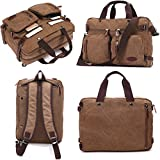 16 Inch Laptop Briefcase Convertible Backpack Shoulder Bag BookBag Rucksack Satchel for Pro Macbook Men Women