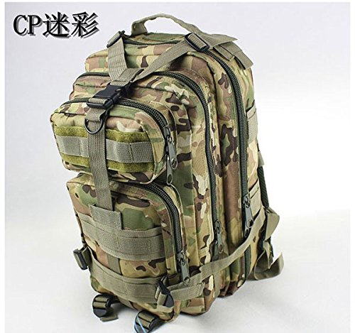 SASAMALL Sport Outdoor Military Rucksacks Tactical Molle Backpack Camping Hiking Trekking Bag-Desert Camouflage (CP)