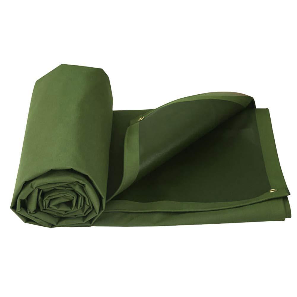 19-yiruculture 穴があいた折り畳み式のキャンバスのテントのステッチの陰が付いている屋外のテントの厚い防水防水シート (Color : A, サイズ : 6×5m) 6×5m A B07R8SYTD7