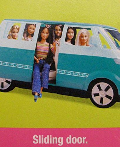 barbie volkswagen microbus vehicle suv van aqua w working horn sliding door seats 6 barbie. Black Bedroom Furniture Sets. Home Design Ideas