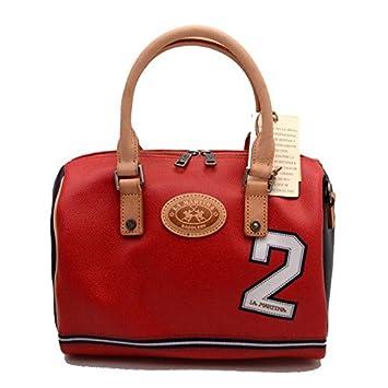 La Martina - Bolso Estilo Cartera para Mujer Rojo 28x19x17 Cm Circa: Amazon.es: Equipaje