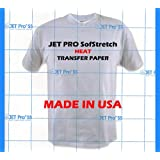 Jetpro Soft Stretch Inkjet Transfer Paper Lights 11''x17'' (50 sheets)