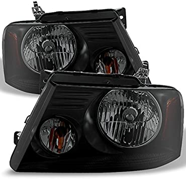 Ford 04-08 F150 Lincoln 06-08 Mark LT Replacement Smoke Headlights Lamps Chrome