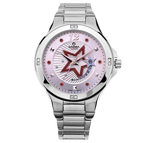 Casima Pink Dial 6 Swarovski Crystal 3 Hands Calendar Display Womens Ingersoll Watches#2804-S8E