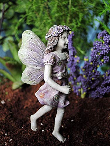 (Miniature Fairy Garden Fairy Violet with 2
