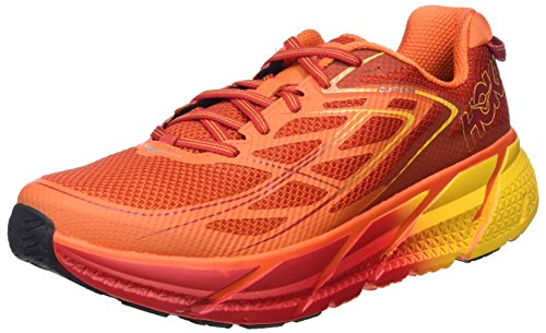 HOKA ONE ONE CLIFTON 3 ROUGE ET ORANGE Chaussures de running