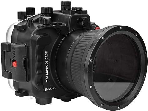 Yctze Estuche para cámara, Vidrio óptico para PC 40m/130 pies Submarino Impermeable Junta tórica Estuche para cámara para cámaras Sony A9 con Correa de Mano: Amazon.es: Electrónica