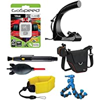 Action Camera Pro Bundle w/ GoWorx The Original Handle+ for GoPro HERO cameras + Floating Strap + Gospeed 16GB Memeory Card + LowePro Case + Flexpod + Deluxe Cleaning Kit