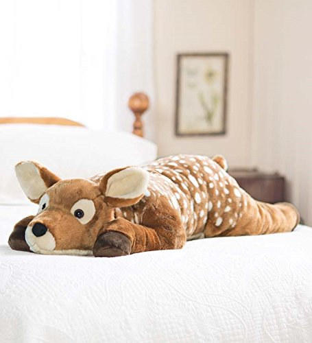 Plow & Hearth Fuzzy Spotted Fawn Body Pillow