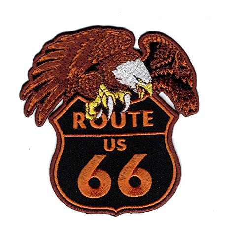 Eagle 66 Route - Route 66 Logo Eagle Embroidered Jacket Vest Biker Patch (Iron on Sew on)