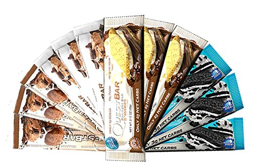 Quest Nutrition- Quest Bar Chocolate Lovers Bundle #2 - Pack of 12 (3 of Each) Carb Control 12 Bars