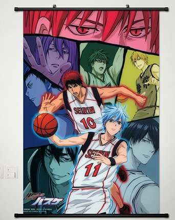 Kuroko No Basket Wall Scroll Poster Fabric Painting for Anim