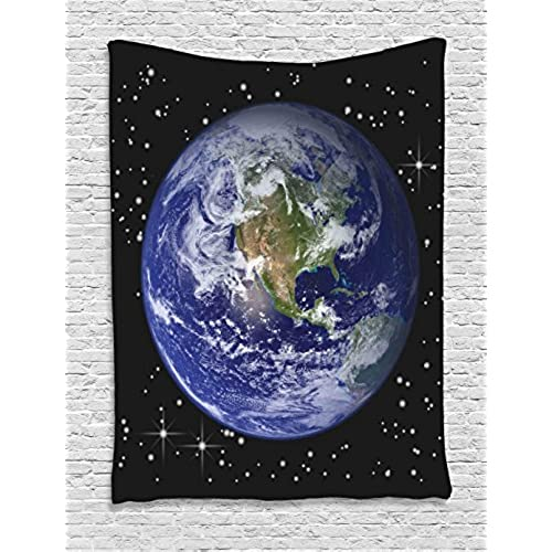 Ambesonne Galaxy And Space For Classroom Decorations Collection North America Stars The Moon From An Astronaut Eye Picture Bedroom Living Teens Room