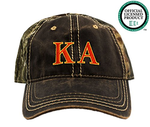 Kappa Alpha Order Camo Baseball Hat | Red & Yellow Letters