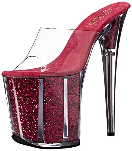 Clr Sandal Pleaser Flam801g H Platform Women's Glitter Cforwardslashhpg Pink wIq6Xvq