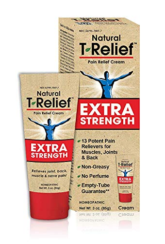 T-Relief Extra Strength Pain Relief Cream for Minor Joint Pain, Back Pain, Muscle Pain, Nerve Pain & Arthritis Pain - Homeopathic Formula with Arnica - 3 oz (Best Food For Nerves Strength)