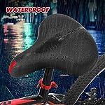 SGODDE-Sella-per-Bicicletta-Sella-per-Bici-in-Gel-Sella-per-Bici-in-Memory-Foam-a-Rimbalzo-Alto-Cava-Ergonomica-Morbida-Impermeabile-Traspirante-e-Calibro-Largo-MTB-Mountain-Saddle-Nero-26-x-22-cm