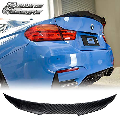 Rolling Gears Real Carbon Fiber Rear Trunk Spoiler Fits BMW 4er F32 Coupe (High Kick Type)