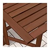 Ikea Table and 2 folding chairs, outdoor, brown