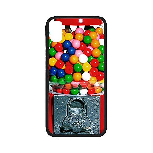 (UlanLi iPhone X Case Gumball Machine iPhone X Case Rubber Case for iPhone X 5.8 inch (with Hard Plastic Back))