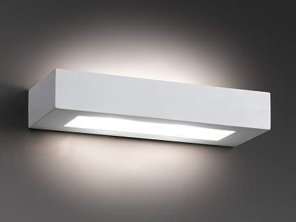 Plafoniere Da Parete Alternative : Faro olaf lampada da parete bianca amazon illuminazione