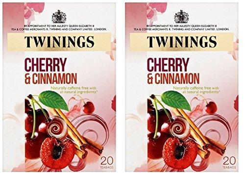 - (2 Pack) - Twinings - Cherry & Cinnamon Tea | 20 Bag | 2 PACK BUNDLE
