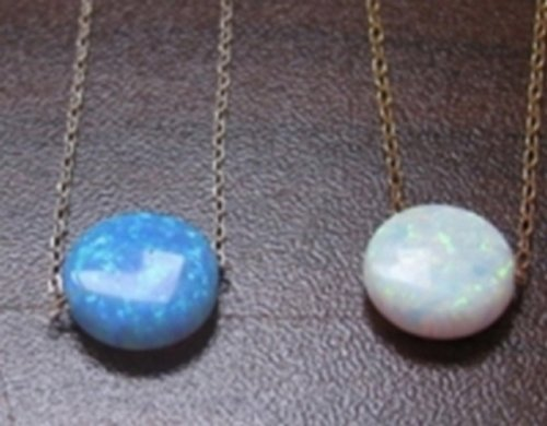 Opal Disc - opal necklace, opal coin necklace, disc opal necklace, white opal necklace, blue opal, delicate opal necklace, opal jewelry, bridesmaid gift
