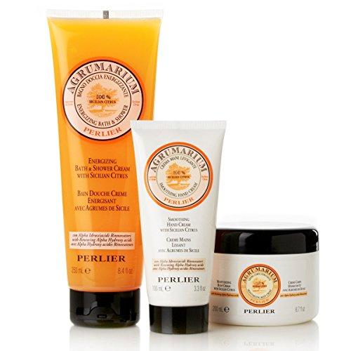 Perlier Sicilian Citrus With Agrumarium 3pc Bath Body Kit