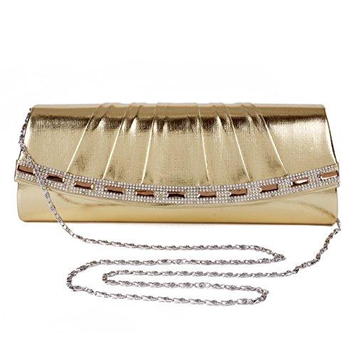 Coffee Damara Handbag Evening Studded Clutch Women Rhinestone Women Damara Rhinestone Flap Uvzgwq