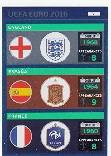Panini Adrenalyn XL UEFA Euro 2016 Logos 2 England / Espana / France by Adrenalyn XL: Amazon.es: Deportes y aire libre