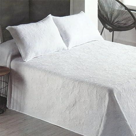 Export Trading texitle Colcha Bouti Nova Blanco Primavera-Verano (Cama 135 cm. (240x260))