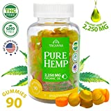 Natural Hemp Gummies - Ultra Volume 2250Mg - 90pcs - Premium Hemp Extract - Relieve Stress, Pain and Anxiety - Omega 3, 6, 9 - Made in USA (90) Larger Image