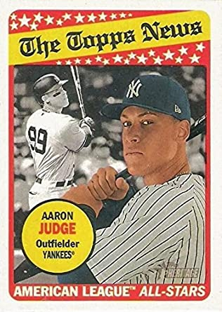 c8efb4b22 Amazon.com  2018 Topps Heritage - The Topps News - Aaron Judge American  League All Stars New York Yankees Baseball Card  278  Collectibles   Fine  Art