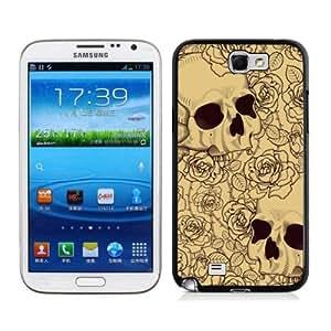 Cool Flowers Skull Case for Samsung Galaxy Note II N7100 AL414834
