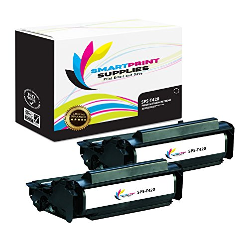 (Smart Print Supplies Compatible 12A7415 Black High Yield Toner Cartridge Replacement for Lexmark T420 Printers (10,000 Pages) - 2 Pack)