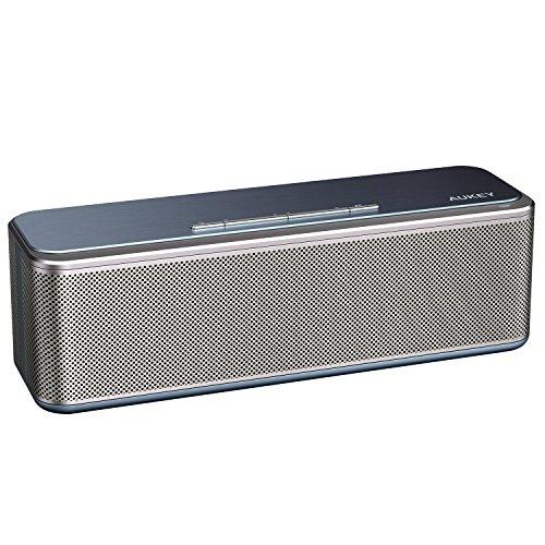 Aukey Bocina altavoz inalambrico CSR Bluetooth 4.0 modelo SK-S1 color plata compatible con smartphones IOS y Android Iphone...