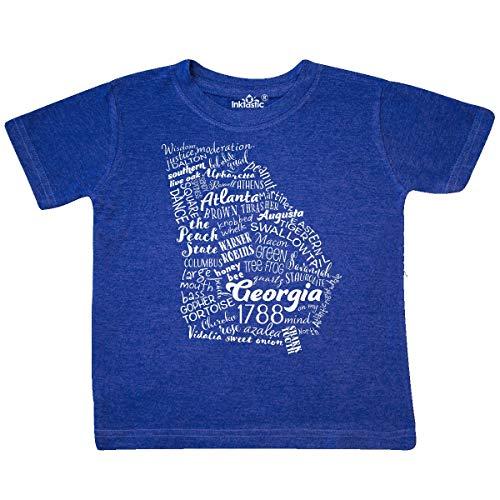 inktastic - Georgia State Word Toddler T-Shirt 4T Retro Heather Royal 3319e