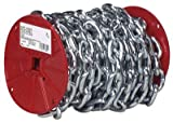 Campbell Chain Proof Coil Chain 3/16'' Zinc Plated 100' L